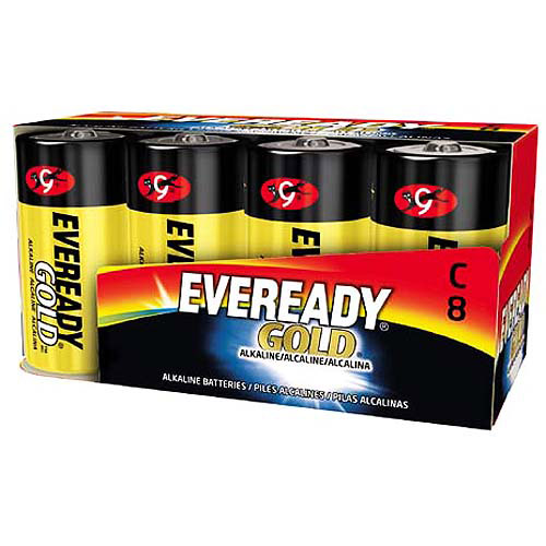 Eveready Gold Alkaline C Batteries, 8-Pack