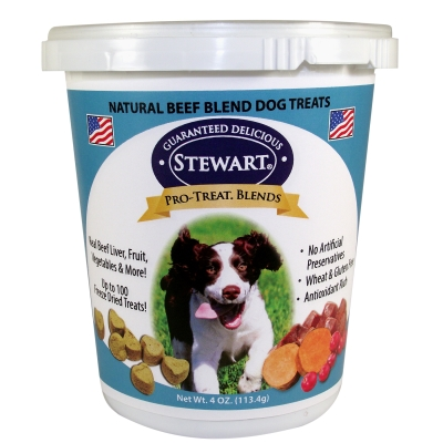 Stewart Foods Pro-Treat RH00024 Natural Freeze Dried Beef Blends Dog Treat, 5 oz Tub