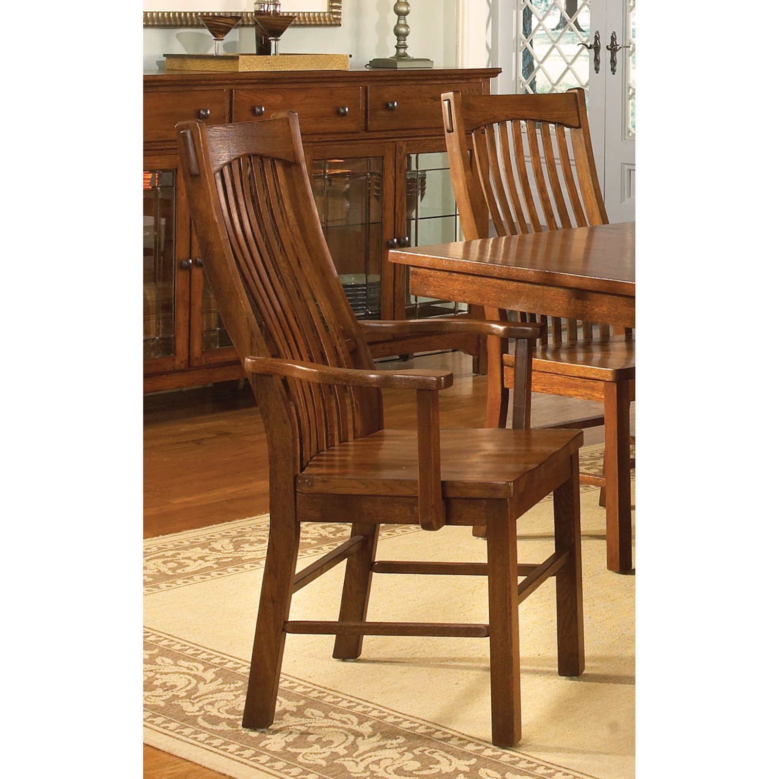 A-America Laurelhurst Slat Back Dining Armchair Set of 2 by A-America Inc