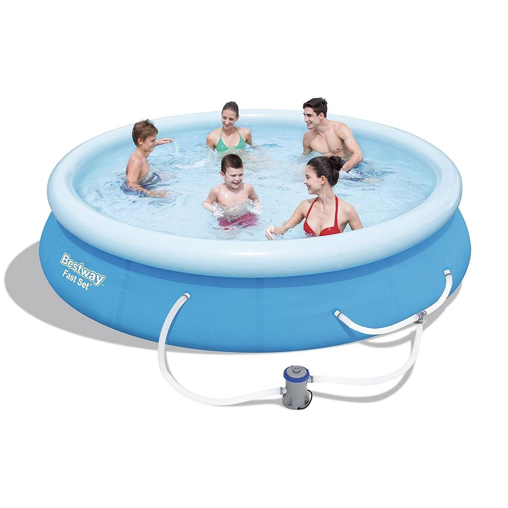 "Bestway 10ft x 30"" Fast Set Swimming Paddling Water Pool Summer Fun Splash Fun"