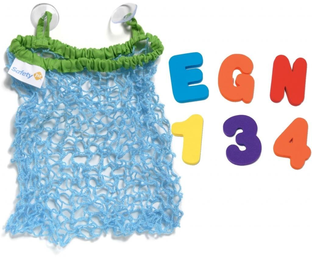 Safety 1st Bath Toy Bag PLUS Bath Letters and Numbers by Safety 1st