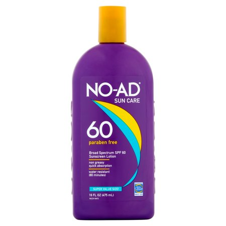 No Ad Sunscreen Lotion Spf 60  16 Fl Oz