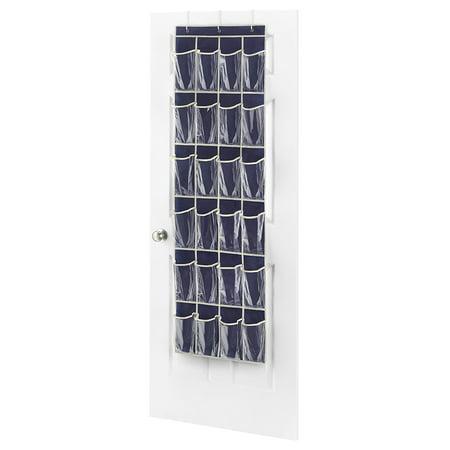 Whitmor 24 Pocket Hanging Over The Door Shoe Organizer Rack Storage E Saver