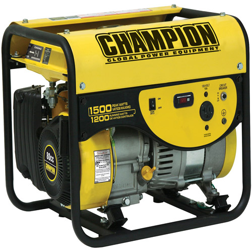 Champion Power Equipment 1200/1500-Watt Portable Gas-Powered Generator
