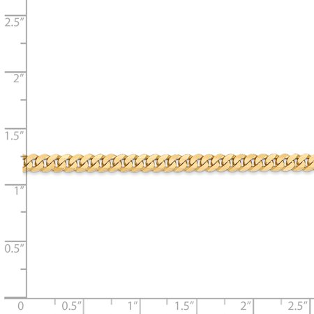 14K Yellow Gold 3.9mm Beveled Curb Chain - image 1 of 5