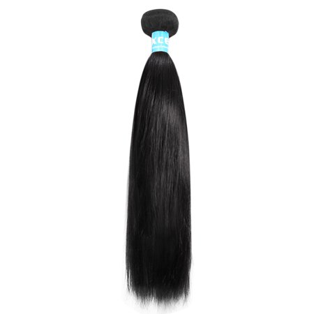 Human Hair Wigs Extensions (Unique Bargains Brazilian Remy Silky Straight Human Hair Weft Extensions 6A 24