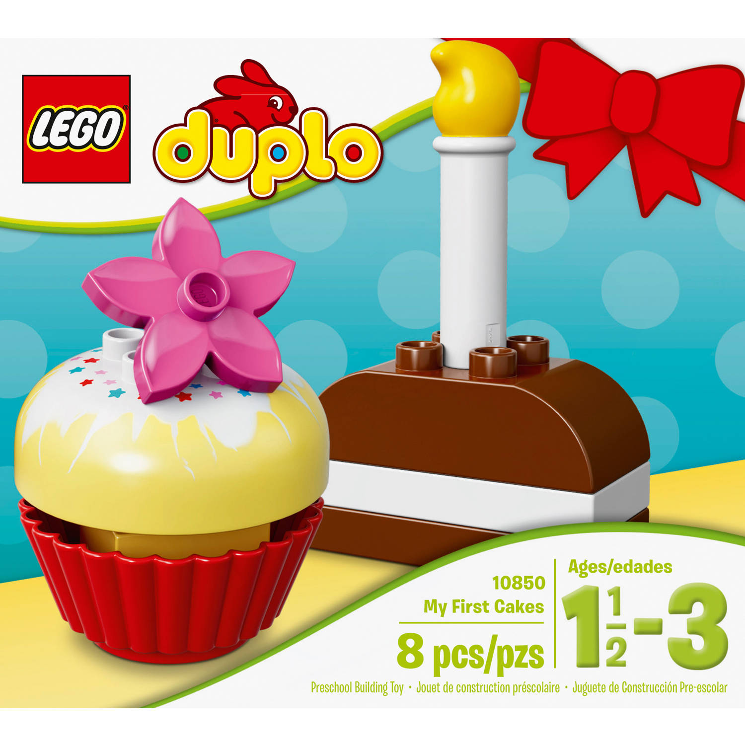 10850 LEGO Duplo My First My First Cakes 8 Pieces Age 1½ Years+
