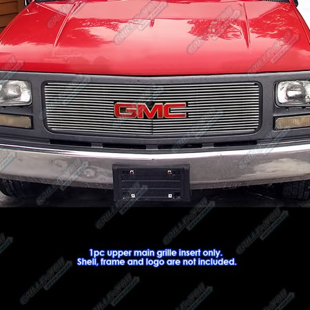 Gmc Suburban Grill - Fits 94-98 GMC C/K Pickup/94-99 Suburban/Yukon Single Lights Billet Grille Grill