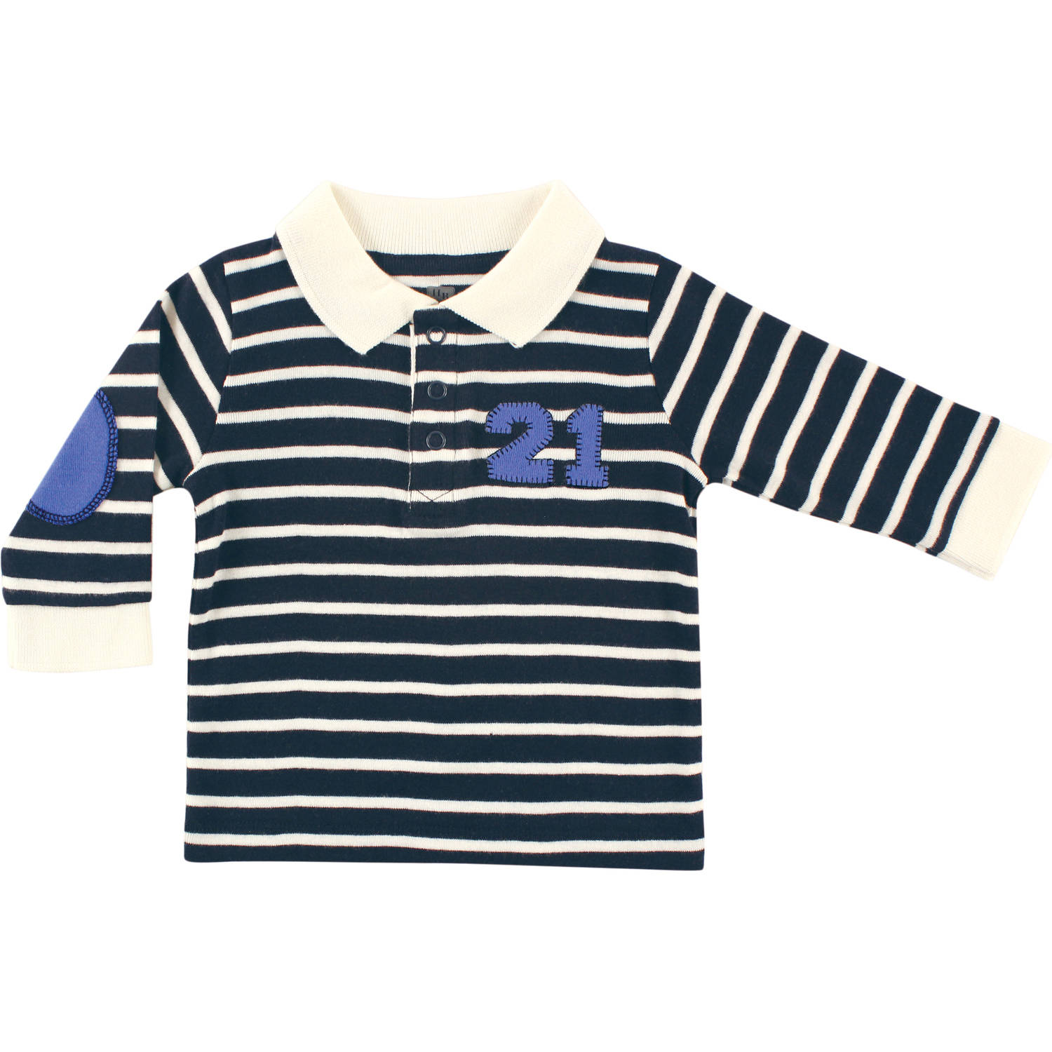 Hudson Baby Newborn Baby Boys Long Sleeve Rugby Shirt - Twenty One