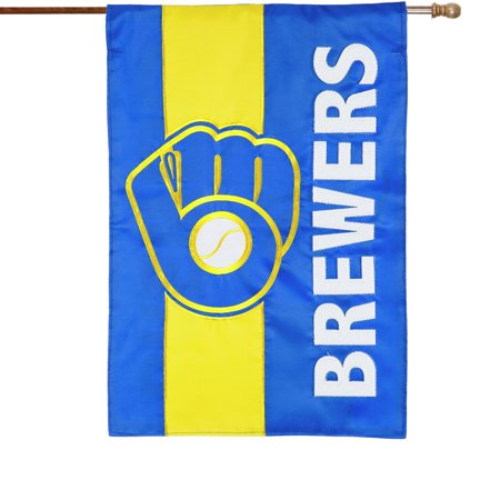 Milwaukee Brewers Embellish House Flag - No Size