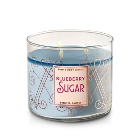 Bath and Body Works White Barn Blueberry Sugar Scented 3 Wick Candle for 2017 14.5