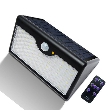Solar Lights Outdoor With Remote 60 Led 1300lm Motion Sensor Security Ip65 Waterproof