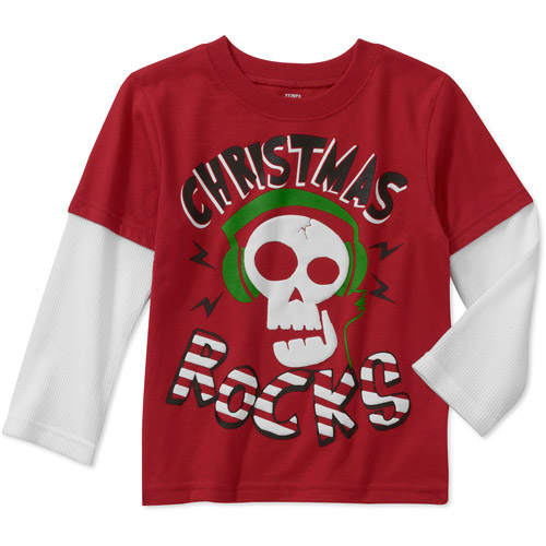 Baby Boys' Long Sleeve Christmas Tee