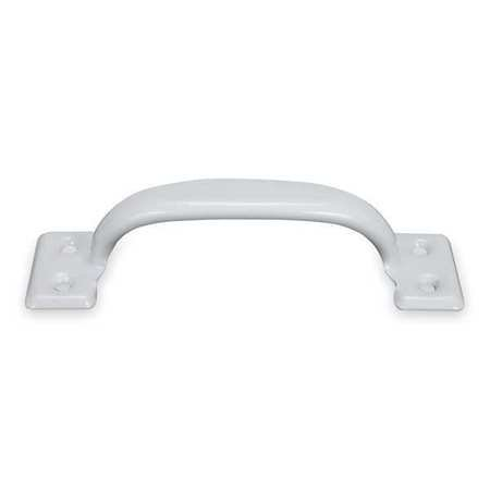 ZORO SELECT 1WAB9 Utility Pull, Steel, White, 5 1/2 In L, Unthr. Through Holes