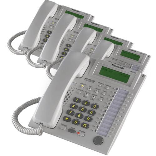 Panasonic KX-T7736W (5 Pack) Speaker Phone Telephone With LCD by Panasonic BTS