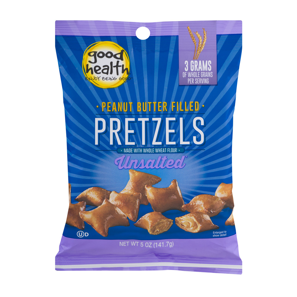 Good Health Peanut Butter Filled Pretzels Unsalted, 5.0 OZ