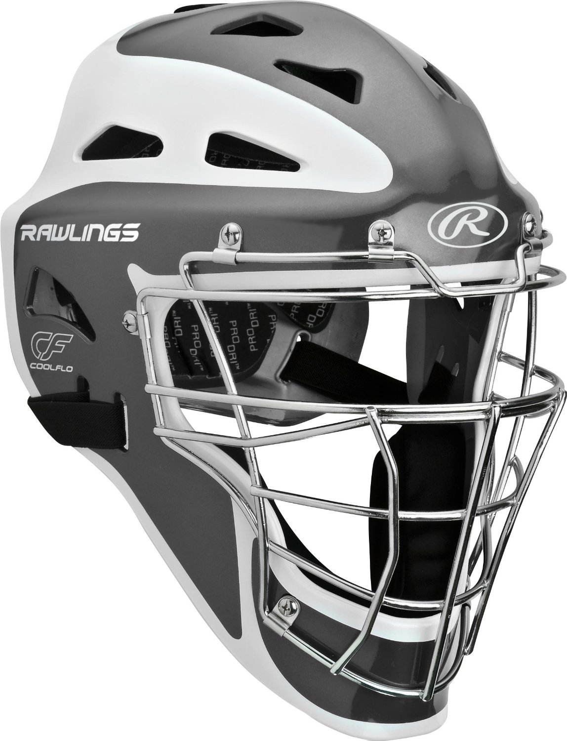 Rawlings Pro Preferred CoolFlo Youth baseball catchers gear helmet mask Graphite by