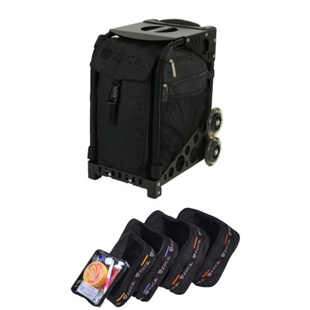 Zuca Stealth Sport Insert Bag with Black Non-Flashing Wheels Frame & Pouch Set