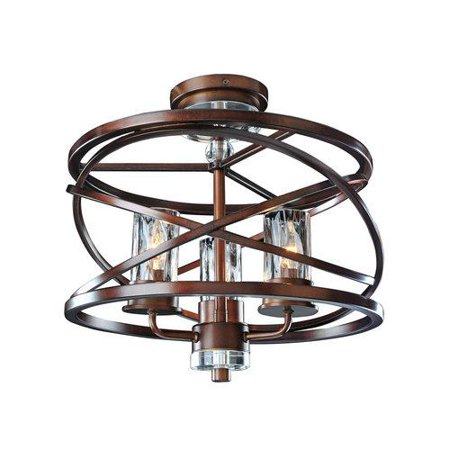 Kalco Oval Chandelier (KALCO Lighting Eternity 3 Light Semi Flush Ceiling Light )