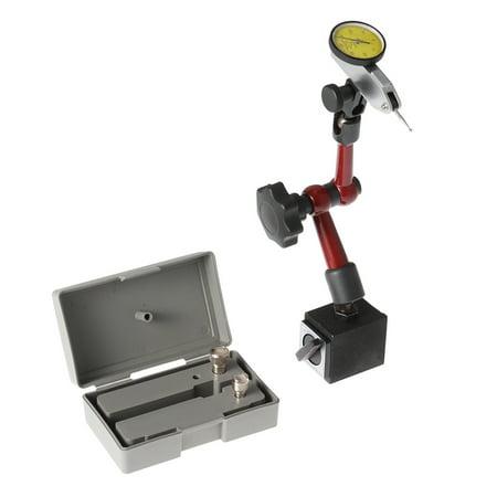 Dial Depth Gauge - Magnetic Flexible Base Holder Stand + Dial Test Indicator Gauge Scale Precision
