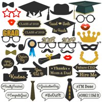 Best Choice Products DIY 38 Piece 2019 Graduation Photo Booth Props