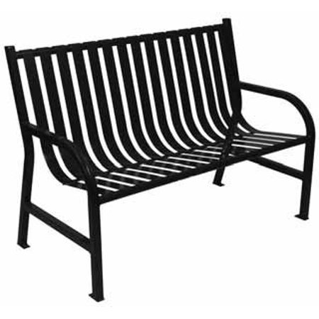 Witt Backless Steel Benches Bench With Curved Arms 4x2x1 4 5