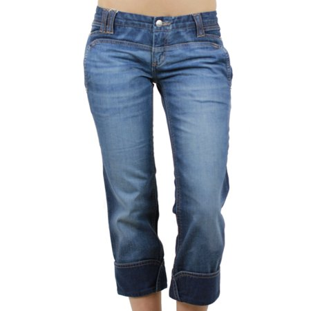 CUSTO BARCELONA Women's Belona Denim Cropped Capris Jeans - Firefly Denim