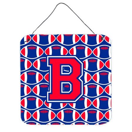 Letter B Football Harvard Crimson & Yale Blue Wall or Door Hanging Prints - image 1 of 1