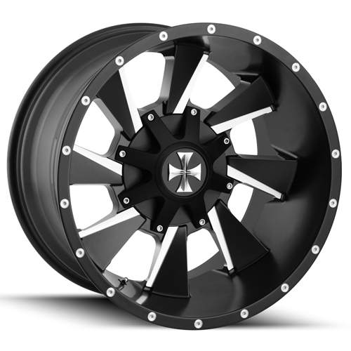 "20 Inch Cali Offroad Distorted 20x10 6x135/6x5.5"" -19 Black/Milled Wheel Rim"