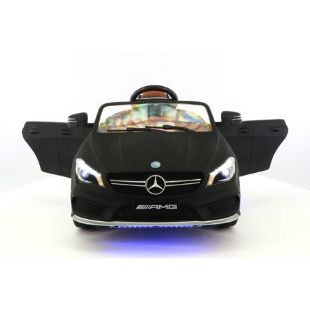 Mercedes cla45 amg 12v power ride on toy car with parental for Walmart mercedes benz toy car