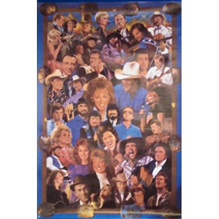 History of Country and Western by Clement Micarelli 36x24 Art Print Poster Tribute Images of: Roy Clark Loretta Lynn Tanya Tucker Travis Tritt Tammy Wynette Dwight Yoakam Hank Williams Jr (Country Western Decor Ideas)