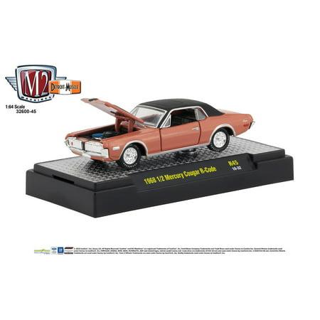 M2 Machines 1:64 Detroit Muscle Release 45 1968 1/2 Mercury Cougar R Code