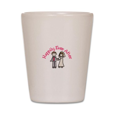 CafePress - Happily Ever After - White Shot Glass, Unique and Funny Shot