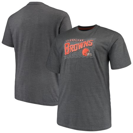 Men's Majestic Charcoal Cleveland Browns Big & Tall Royal Domination Malt T-Shirt