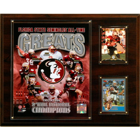 C&I Collectables NCAA Football 12x15 Florida State Seminoles All-Time Greats Photo Plaque Florida State Seminoles Street Sign