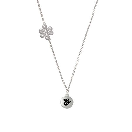 Capital Letter       Pebble Disc   Delicate Infinity Knot Necklace
