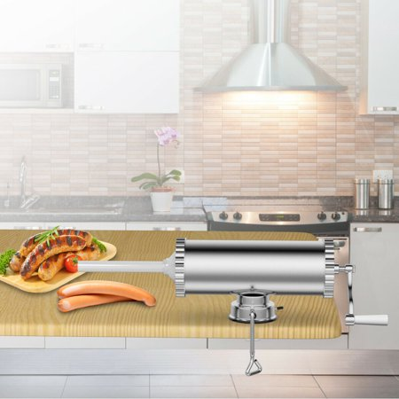 Costway 3L Manual Sausage Stuffer Maker Meat Filler Machine w/ Suction Base (Best Sausage Machines)