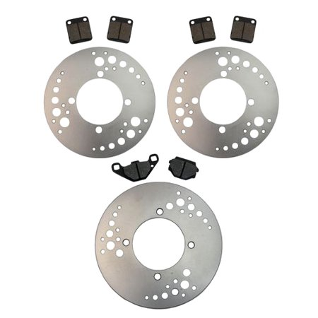 Front & Rear Brake Rotors & Pads Suzuki Vinson 500 4x4 2003 2004 2005 2006