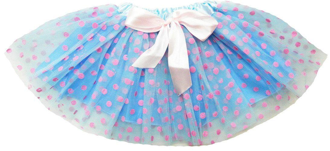 wenchoice Girls Blue /& Pink Polka Dot Tutu M 3T-4T