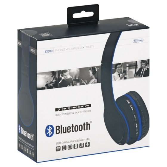 a2952d61ffd Sentry Bluetooth Stereo Headphones with Mic - Walmart.com