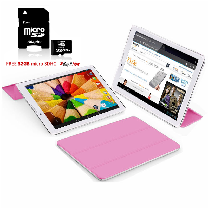 """Indigi® 7"""" 3G Unlocked 2-in-1 Phablet Android 4.4 SmartPhone & TabletPC w/ Built-in Smart Cover + 32gb microSD(Pink)"""