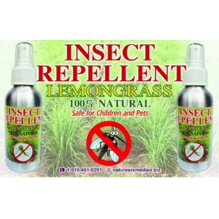 Insect Repellent 100% Natural with Fresh Lemongrass, Peppermint and Sweet Orange: Repels Biting Insects(Chiggers, Mosquitoes, Ticks, No Seeums, Gnats) Safe for Children and Pets (5 ounce size)