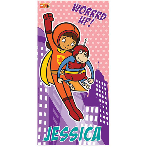 Personalized WordGirl Worrd Up! Beach Towel