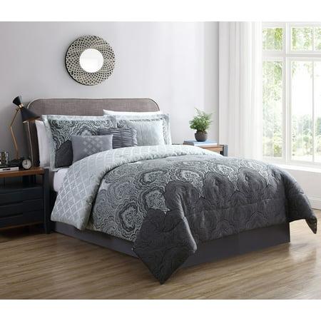 Mainstays King Woven Jacquard Mint Green Comforter Set, 7 Piece