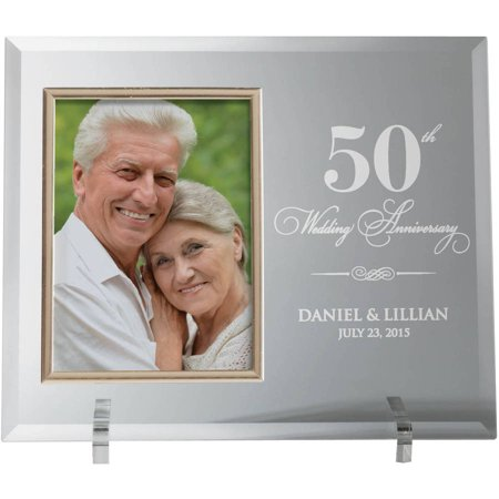 Our Anniversary Personalized Glass Photo Frame