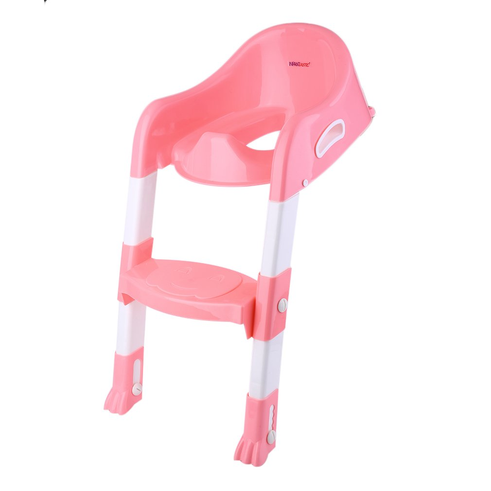 Kids Training Toilet Trainer Toilet Seat Chair Toddler With Ladder Step Up Stool by kykyzy