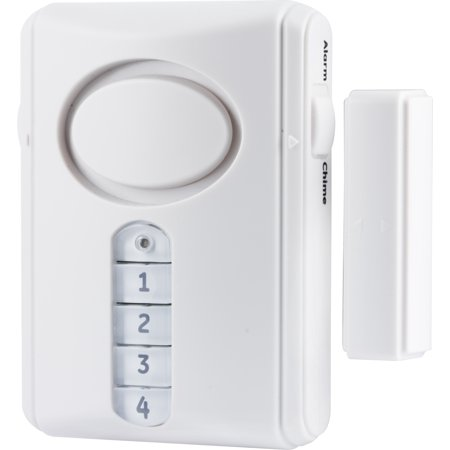 GE Personal Security Wireless Alarm Kit, Includes 1 Deluxe Door Alarm and 3 Window/Door Alarms, 51107