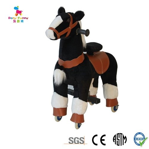Black Pony Rocking Cycle Horse Ride On Horse Giddy Up Cowboy! by TODDLER TOYS