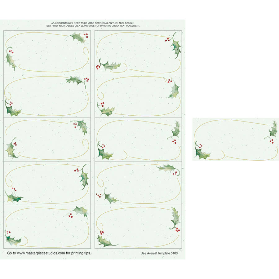 """Great Paper Holly Bunch 2"""" x 4"""" Shipping Label, 50-Pack"""