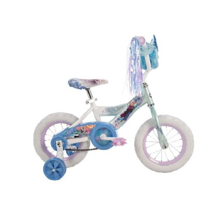 Huffy Disney Frozen 12 Inch Girls' Bike with Training Wheels Ages 3 to 5, Blue
